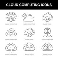 jeu d & # 39; icônes de cloud computing vecteur