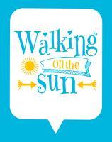 Affiche typographique mignonne d'enfants avec la citation du soleil vecteur
