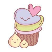 doux cupcakes crème menu restaurant nourriture mignon