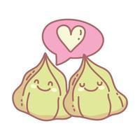 wasabi amour caractères menu restaurant dessin animé nourriture mignon