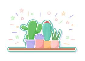 Vecteurs de succulents uniques vecteur