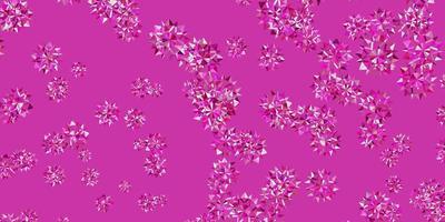 disposition de vecteur rose clair avec de beaux flocons de neige.