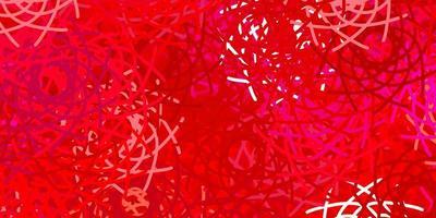 toile de fond de vecteur rouge clair avec des formes chaotiques.
