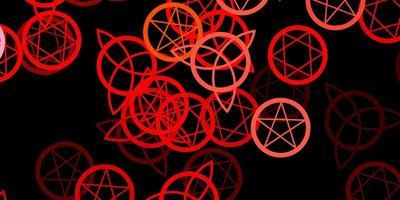 fond de vecteur rouge foncé avec des symboles occultes.