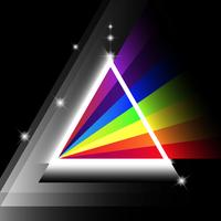 illustration vectorielle de prisme spectre vecteur