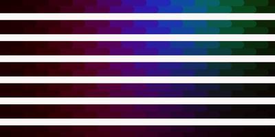 modèle de vecteur multicolore sombre avec des lignes.