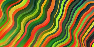 toile de fond de vecteur multicolore sombre avec arc circulaire.