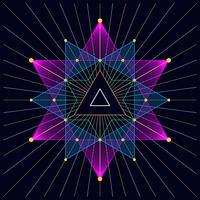 Triangle hipster mystique fond de triangle astral vecteur