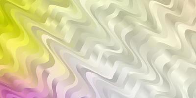 texture de vecteur multicolore léger avec des courbes.