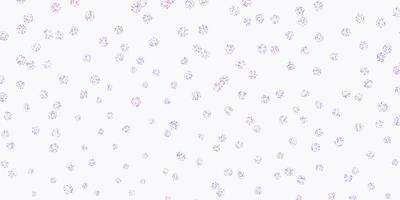 modèle de doodle de vecteur rose clair, bleu avec des fleurs.