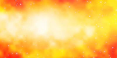 fond de vecteur orange clair avec des étoiles colorées.