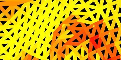 Disposition de triangle poly vecteur jaune foncé.