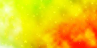modèle vectoriel vert clair, jaune avec des étoiles au néon.