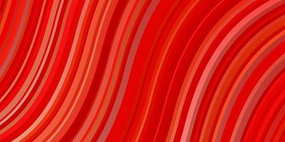 disposition de vecteur rouge et jaune clair avec des lignes ironiques