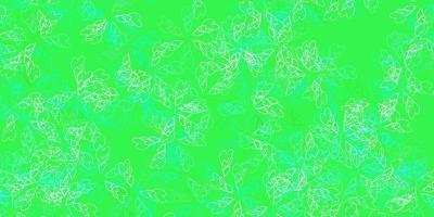 toile de fond abstraite vecteur vert clair avec des feuilles.