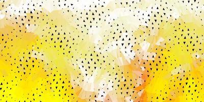 fond d'écran de polygone dégradé vecteur jaune clair.