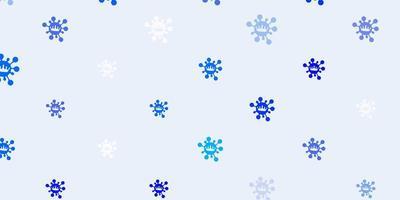 toile de fond de vecteur bleu clair avec symboles de virus
