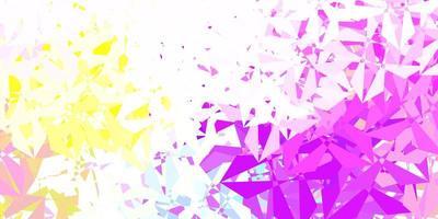 toile de fond mosaïque triangle vecteur multicolore clair.