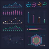 Diagrammes statistiques Info Graphique Présentation des données vecteur