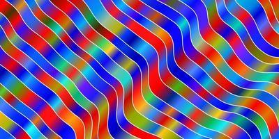 modèle de vecteur multicolore clair avec des lignes ironiques.