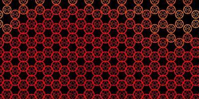 texture de vecteur rouge et jaune foncé avec des symboles de religion.