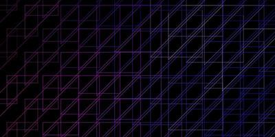 mise en page de vecteur violet foncé, rose avec des lignes.
