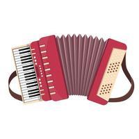 illustration de conception de vecteur accordéon isolé sur fond blanc