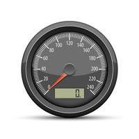 illustration de conception de vecteur de compteur de vitesse isolé sur fond blanc