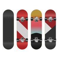 illustration de conception de vecteur de skateboard isolé sur fond blanc