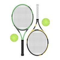 Illustration de conception de vecteur de raquette de tennis isolé sur fond blanc