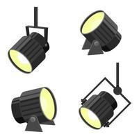 illustration de conception de vecteur de projecteur isolé sur fond