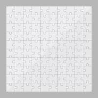 illustration de conception de vecteur de pièces de puzzle isolé sur fond gris