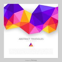 Fond de triangles abstraits de vecteur coloré