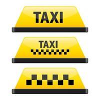 illustration de conception de vecteur de signe de taxi isolé sur fond blanc