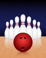 illustration de conception de vecteur de club de bowling