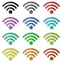 illustration de conception de vecteur internet wifi isolé sur fond blanc