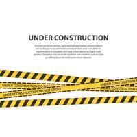 en construction zone vector design illustration isolé sur fond blanc