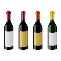 bouteille d'illustration de conception de vecteur de vin isolé sur fond blanc