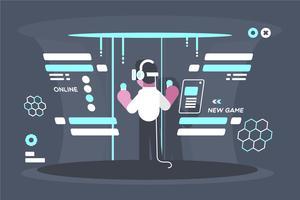 Illustration de l'expérience de réalité virtuelle