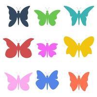 papillon set vector illustration de conception isolé sur fond blanc