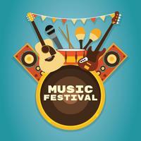 Contexte du Festival de musique vecteur