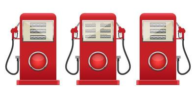 illustration de conception de vecteur de pompe à essence isolée sur fond