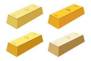 illustration de conception de vecteur de lingot d'or isolé sur fond blanc