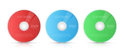 illustration de conception de vecteur cd et dvd isolé sur fond blanc