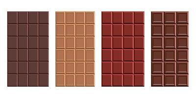 illustration de conception de vecteur de barre de chocolat isolé sur fond blanc