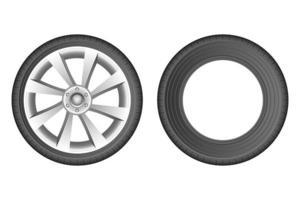 illustration de conception de vecteur de pneu de voiture isolé sur fond blanc