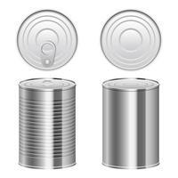 illustration de conception de vecteur de boîte de conserve isolé sur fond blanc