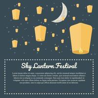 festival de la lanterne du ciel vecteur