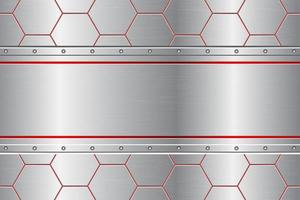 peigne métallique fond abstrait vector illustration de conception