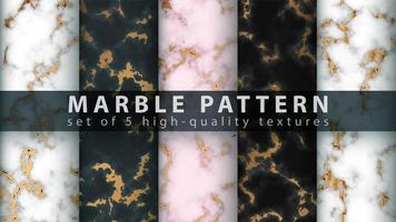ensemble de fond de texture de marbre